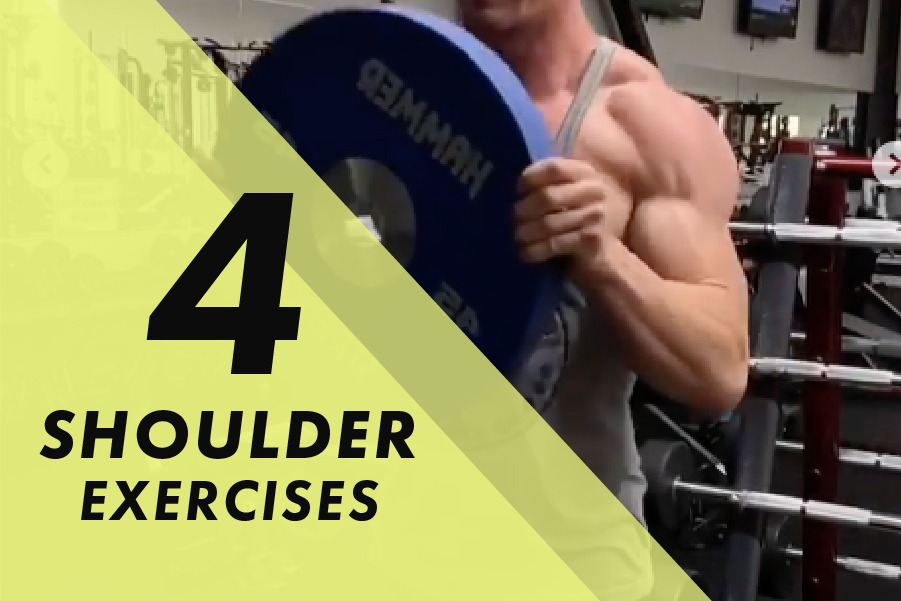 4 shoulder exercises recommended by Josh Bowmar:
