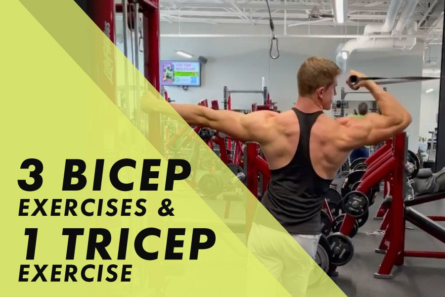 3 bicep exercises and 1 tricep exercise with Josh Bowmar: