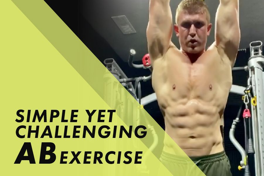 Simple yet challenging Ab Exercise with Josh Bowmar:
