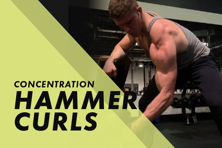 Concentration hammer curls with Josh Bowmar: