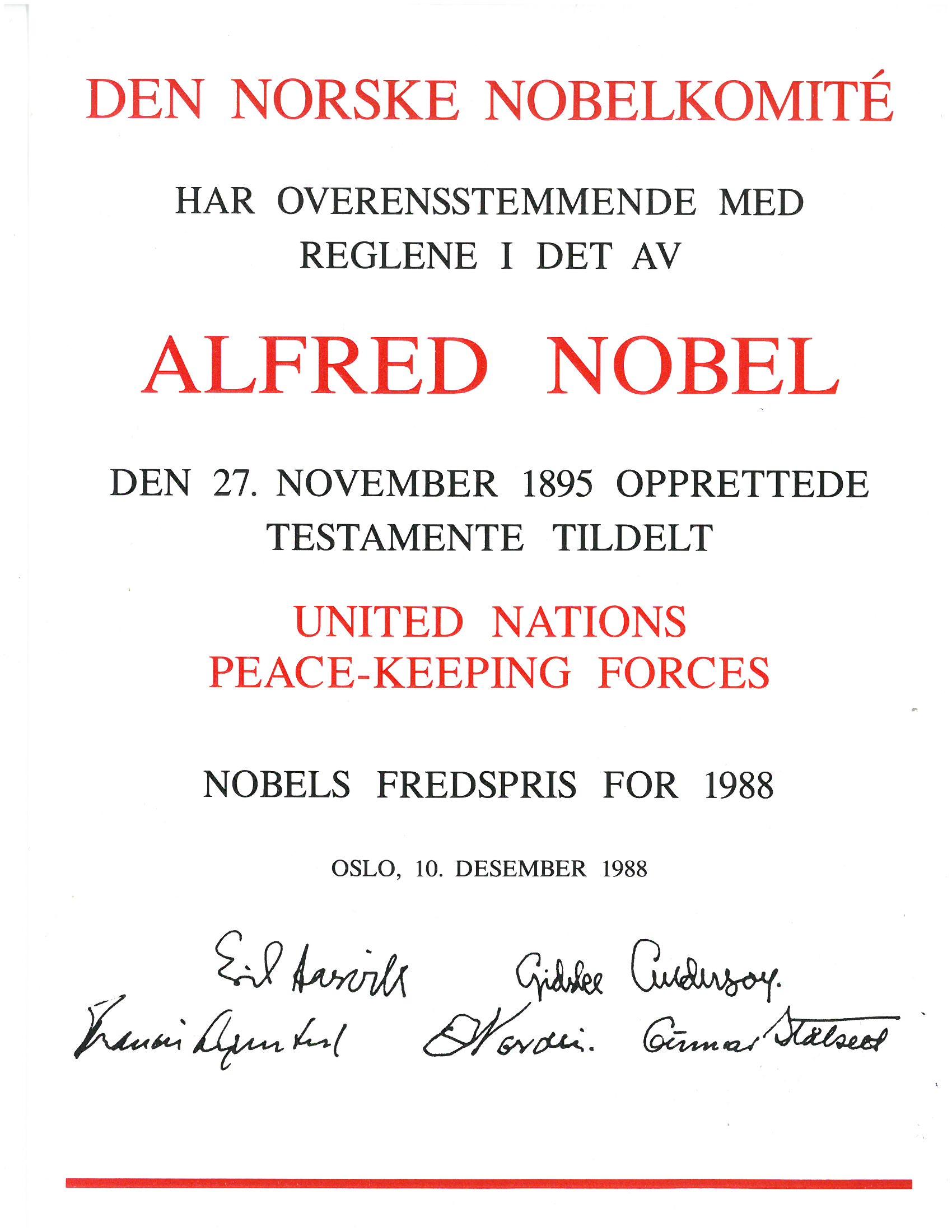 Nobel Prize document