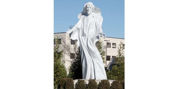 Healing Christ  Timothy Duffield Polyester and Fiberglass Site: Bon Secours Mary Immaculate Hospital, 2 Bernardine Drive