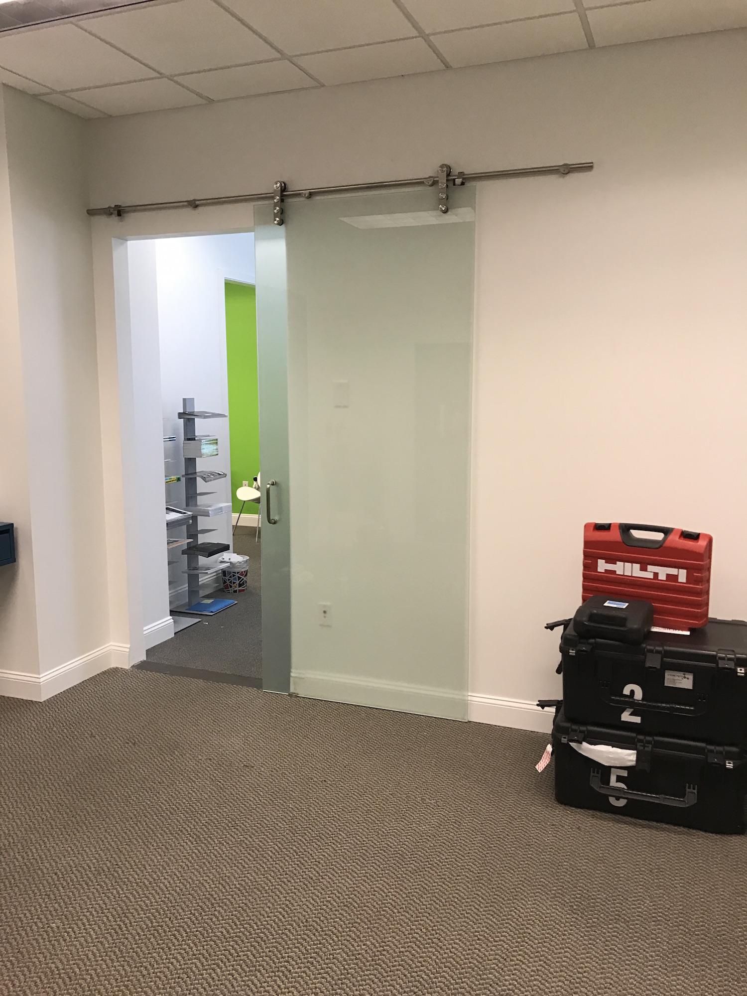 Commercial glass office door