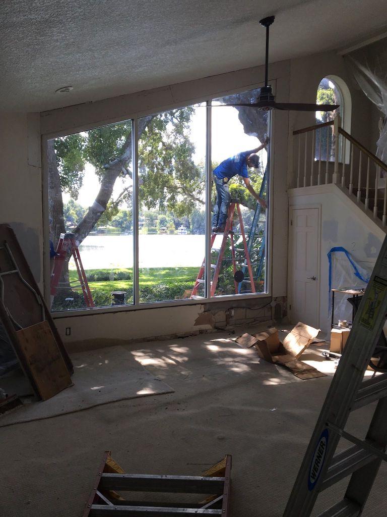 Residential large window repair 1
