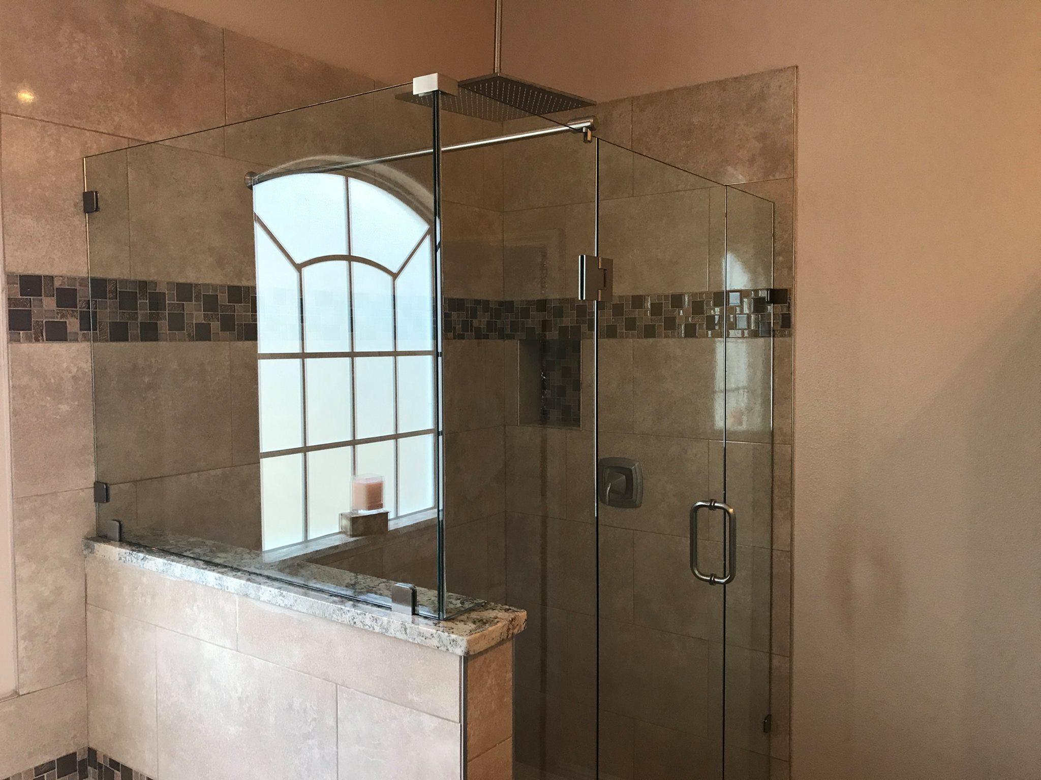 Shower enclosure glass door 5