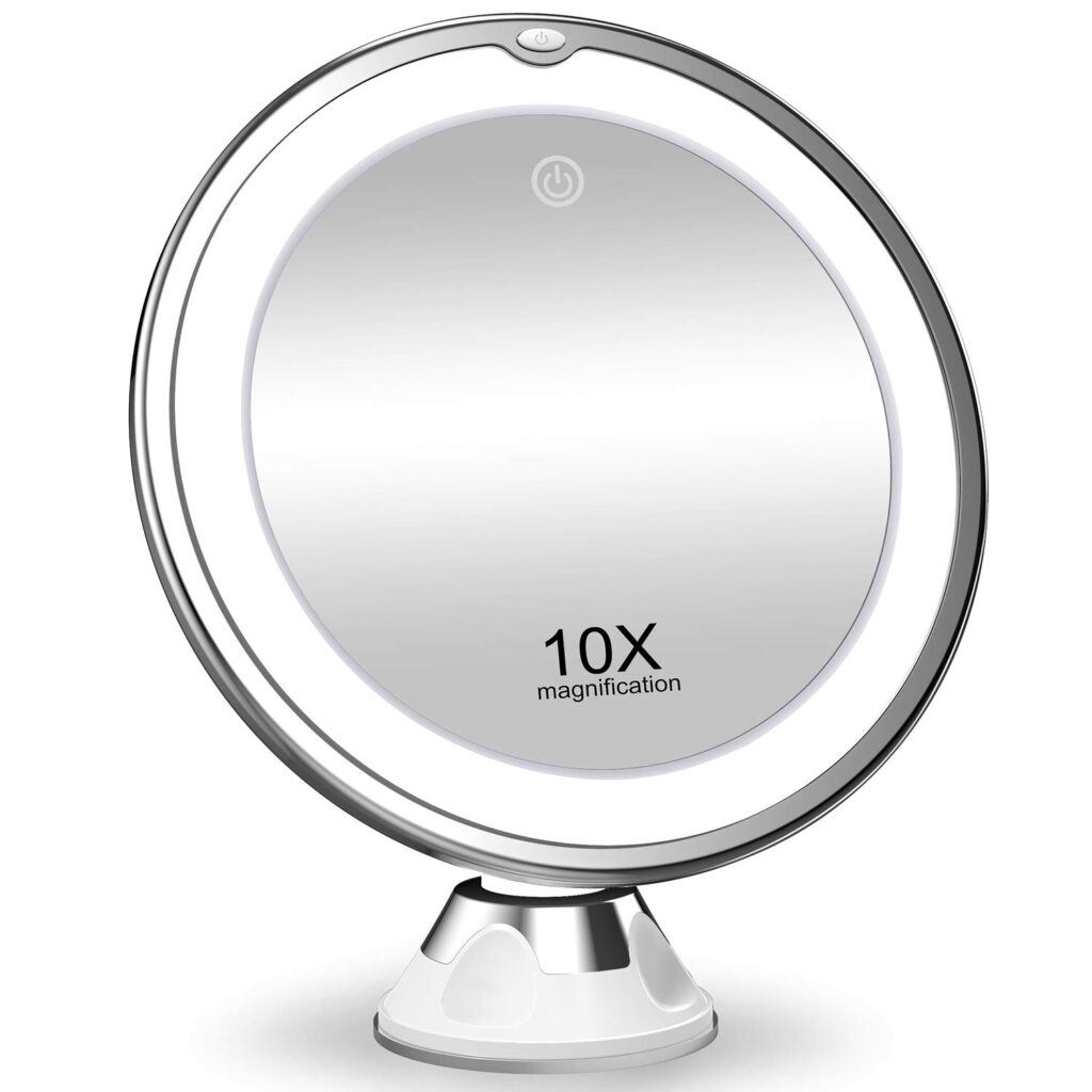 On Sale – 10x Magnifying Makeup Mirror with Multi Color Lights