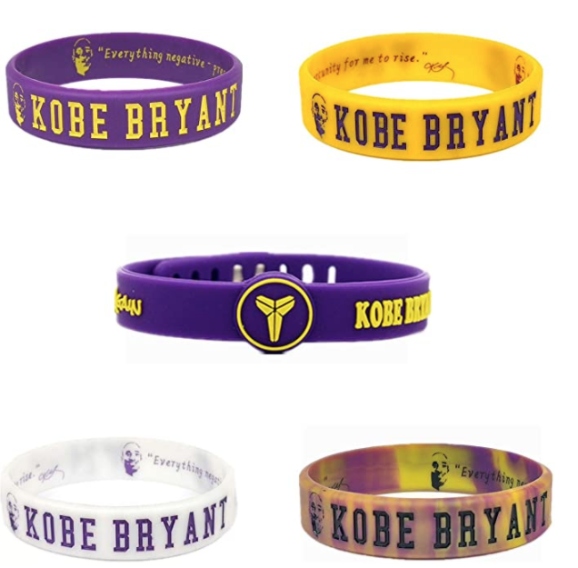 (.99) 5 Pack – Kobe Silicone Bracelet Sports Wristbands