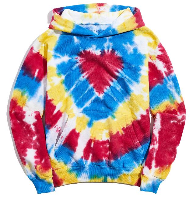(50% OFF) UO Exclusive Heart Tie-Dye Hoodie Sweatshirt – .99