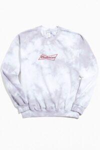 Budweiser Tie-Dye Crew Neck Sweatshirt On Sale For 50% Off!