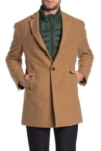 Calvin Klein Camel Wool Blend Coat On Sale For Nearly 70% Off!