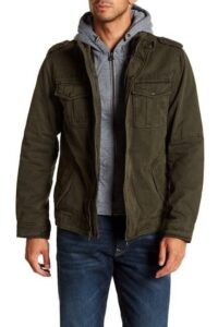 Levi's Faux Shearling Lined Hooded Military Jackets On Sale For 60% Off!