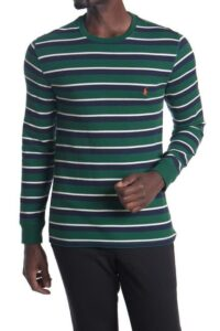 Polo Waffle Knit Stripe Sweater On Sale 44% Off!