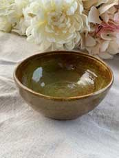 Ceramic Bowl - Antique Dark Green