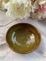 Ceramic Bowl - Antique Dark Green
