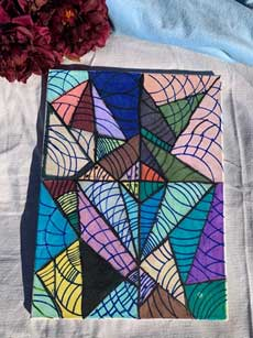 Abstract triangle 12x16 Marker Painting