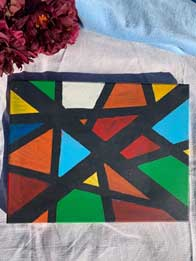 Green/red/blue/yellow geometric shapes11x14