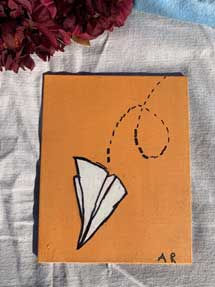 Paper Airplane Painting 8 x 10