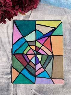 Colorful Web Design Marker Painting 8x10
