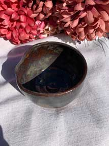 Ceramic Bowl - Antique Dark Brown