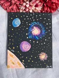 Painting Cosmic Universe 8 x 10