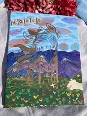 Painting Horse mountain escape 11 x 14