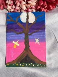 Firefly Full Moon Tree 5 x 7
