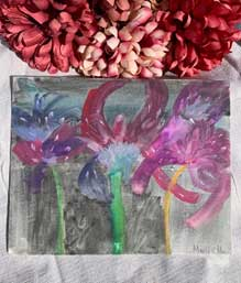 Watercolor orchids 8 x 10