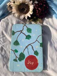 Joy Ornament on Branch