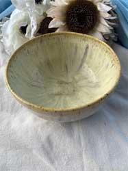 "ceramic mixing bowl antique green 8"" diameter 4.5"" tall"