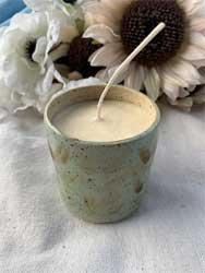 Citronella candle in ceramic cup 10 oz