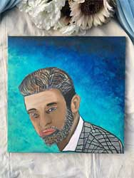 Justin Timberlake portrait 18 x 18