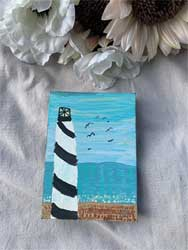 Painting lighthouse 5 x 7