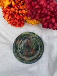 "Multi color plate 6"" diameter"