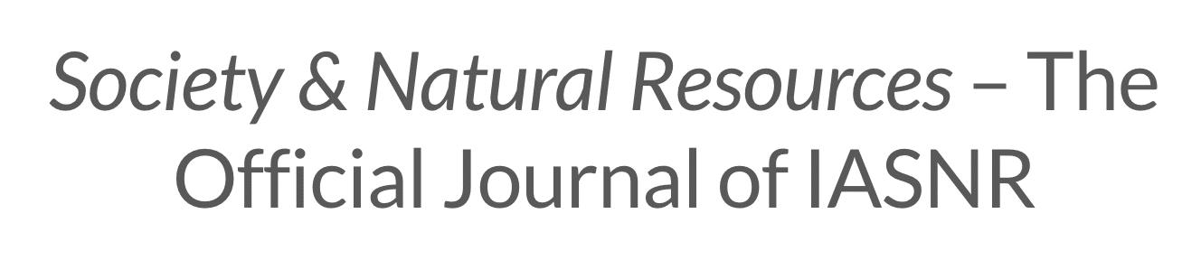 Society & Natural Resources