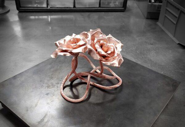 Bright polished Copper Rose Sculpture