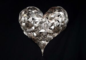 Silver Plated Hearts