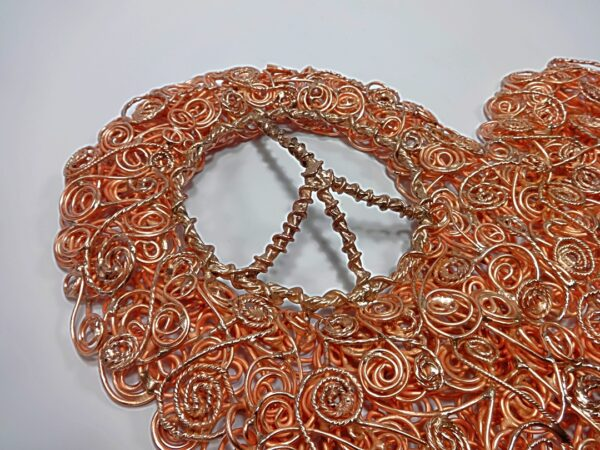 Copper Coil Peace Heart