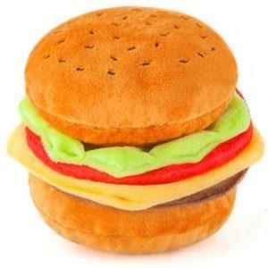 Cheeseburger Dog Chew Toy