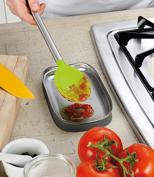 Stainless Steel Double Spoon Rest