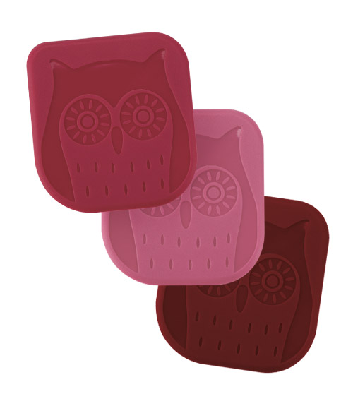Owl Nylon Pan Scraper - Set of 3