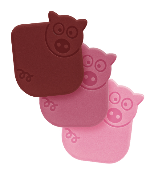 Three Pigs Nylon Pan Scrapers - Set of 3