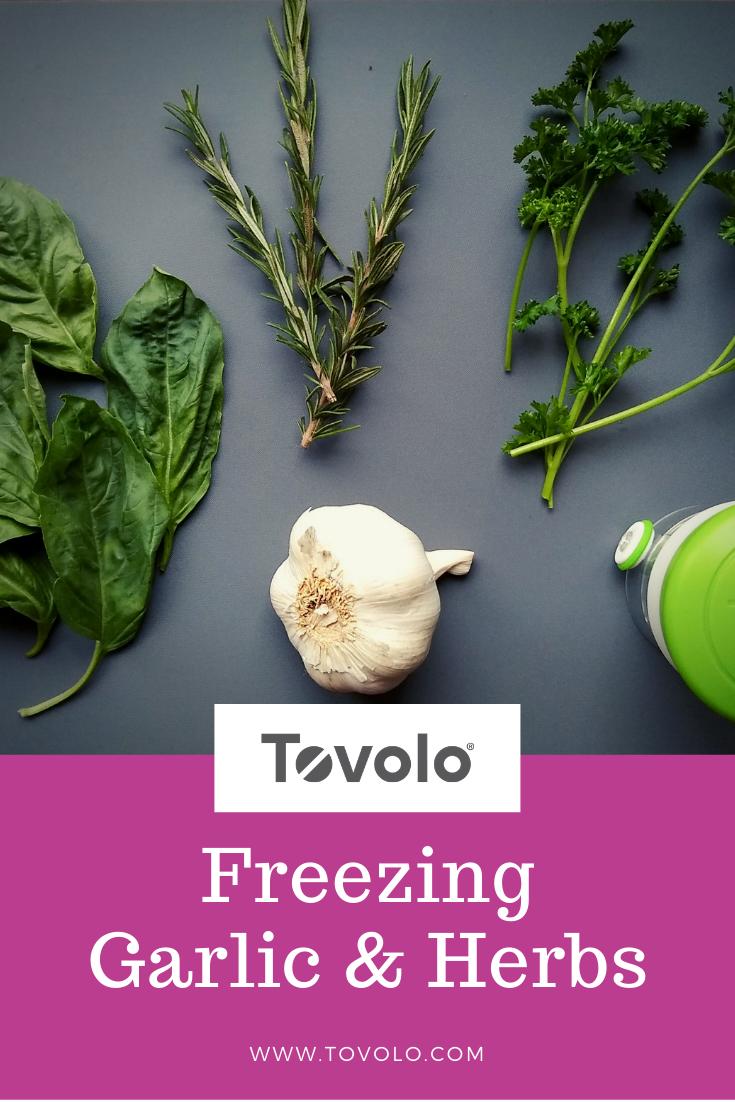 Freezing Garlic & Herbs