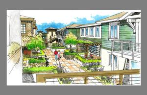48-home Alternative - Courtyard View 1 (North)