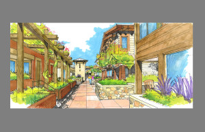 48-home Alternative - Courtyard View 3 (South)
