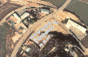 1973 Aerial Image of Site with 48-home Alternative Overlay