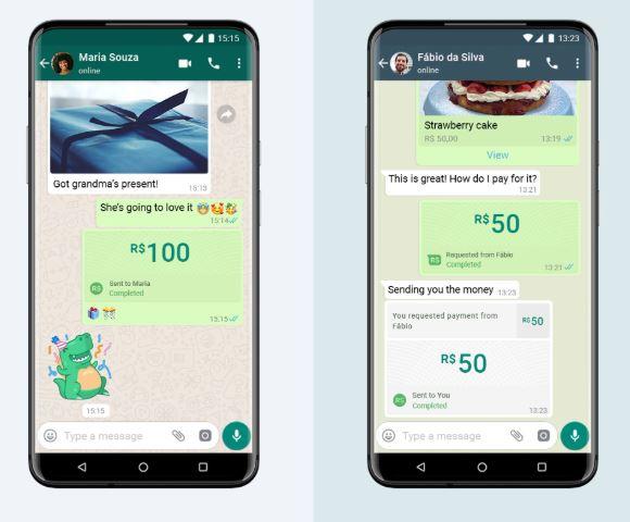 Agora é possível fazer pagamentos pelo chat do WhatsApp