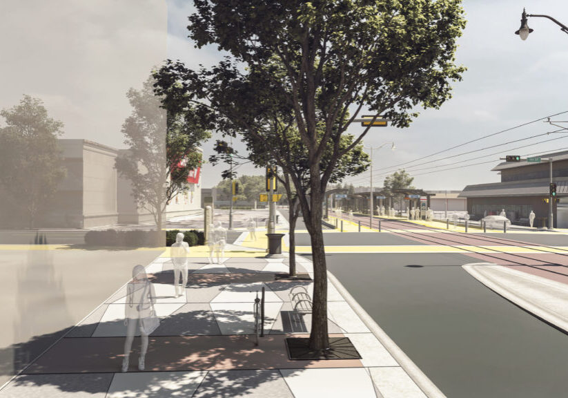 An artist's rendering shows how the roadway near Stony Plain Road and 151 Street will be transformed once construction is complete.