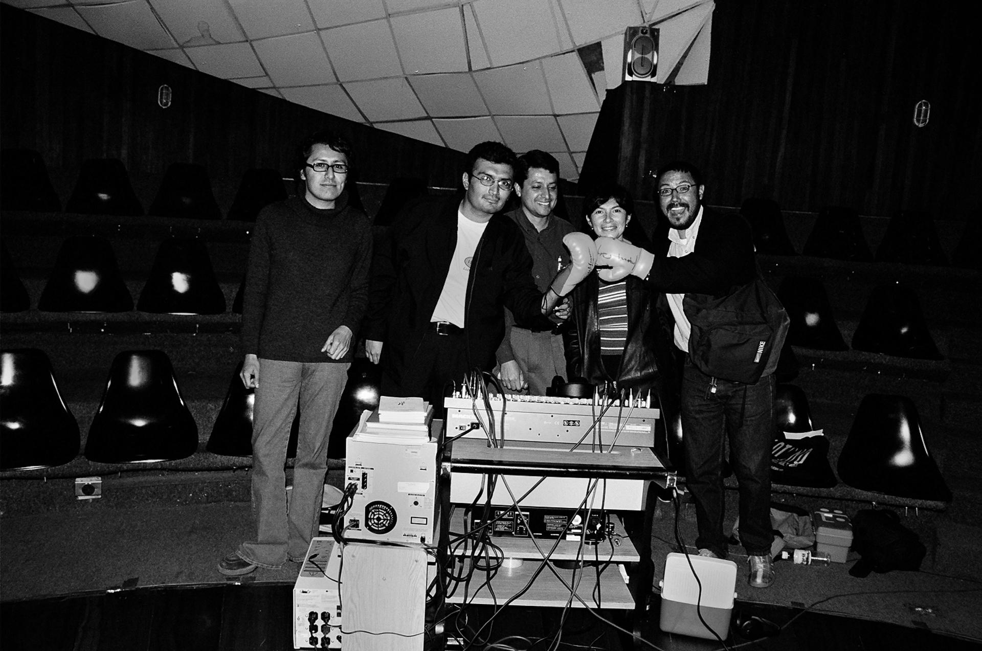 Fabiano Kueva, Luis Carlos Mussó, Byron Azuero, Cárol Murillo y Edwin Madrid.