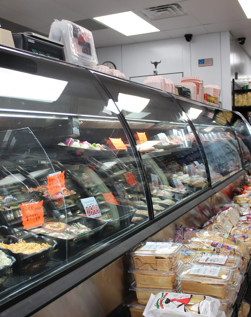 inside look at deli counter