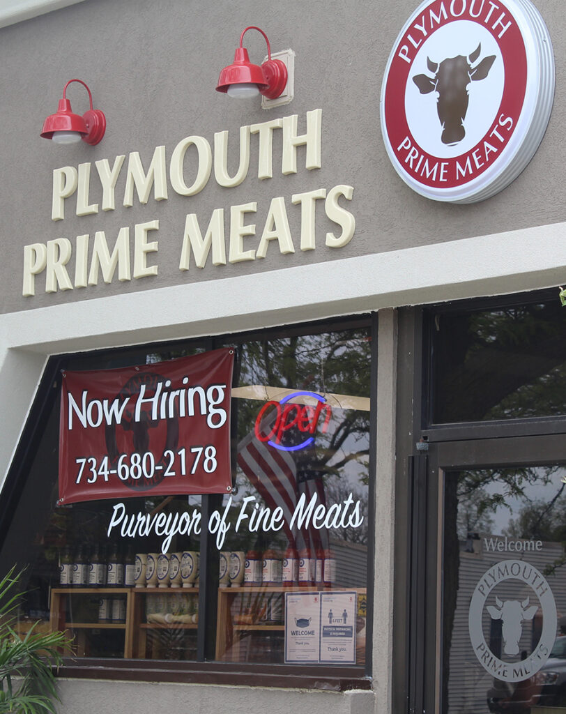 outside of Plymouth Prime Meats